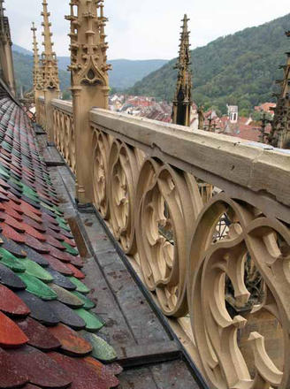 Collégiale de Thann : remplacement de 80 mètres de rambardes sculptées