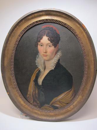 JB Couvelet (Charleville 1772- Mézières 1830). Portrait d'Antoinette Papillon de Sannois (1812), épouse d'Alexandre Godart. Musée de Charleville-Mézières