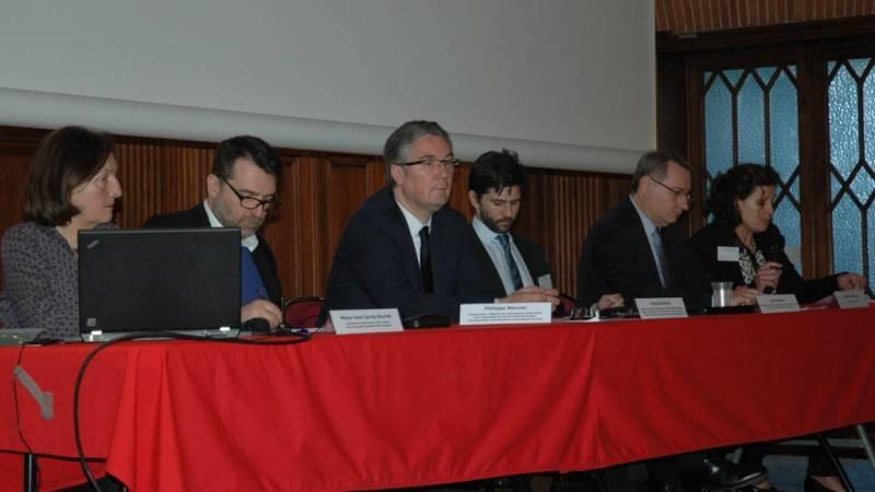 Jean-Luc Moudenc, maire de Toulouse et les représentants de l'Acir et de la Drac