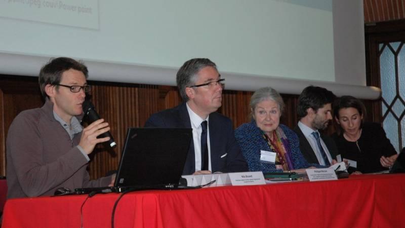 Nils Brunet, Philippe Mercier, Michèle Prats, John Palacin et Isabelle Rebattu