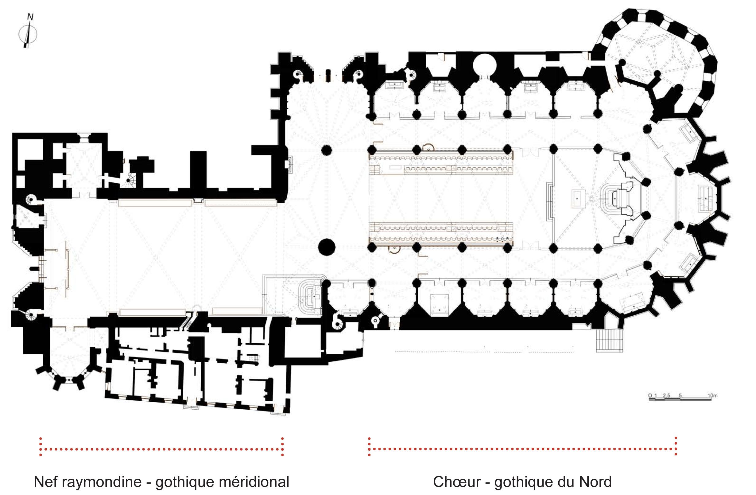"""Résultat de recherche d'images pour """"cathédrale de toulouse plan"""""""