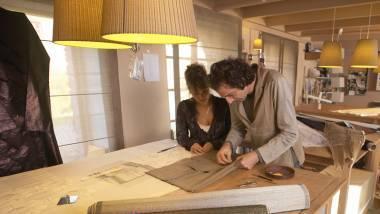 Pietro Seminelli, Maître d'art, créateur textile, art du pli et Kathy Vaubaillon