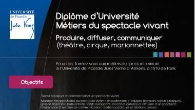 Diplome d'université Métiers du spectacle vivant