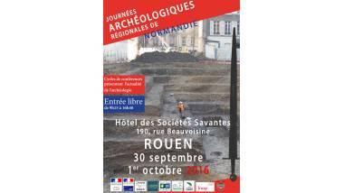 Affiche des Journées archéologiques régionales 2016