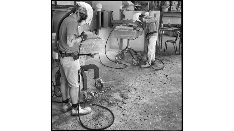 Taille de lamiers en atelier