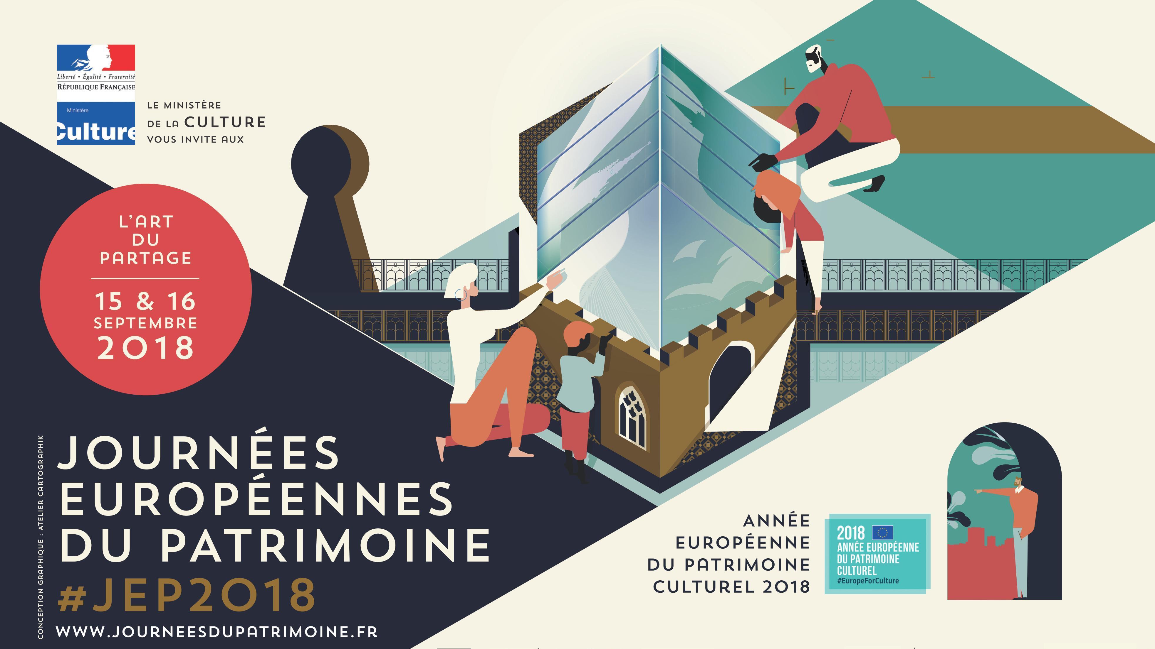 """Résultat de recherche d'images pour """"affiche journées du patrimoine 2018"""""""