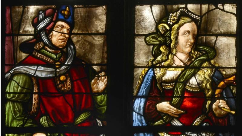 Détails du prophète Daniel et la sibylle cimmérienne, avant restauration