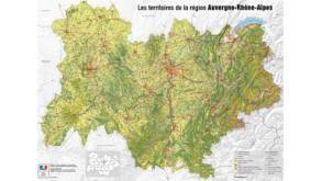 Carte Auvergne Rhône-Alpes