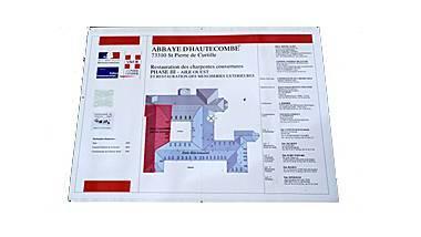Abbaye d'Hautecombe - panneau de chantier