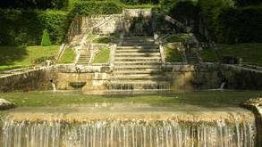 Escalier d'eau du château du Touvet - valoriser