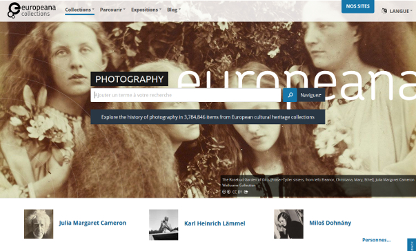 Page d'acceuil Europeana - Photography