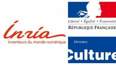 Logo INRIA et Ministère de la Culture
