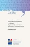 couverture du fascicule Culture Chiffres sur les auteurs du livre affiliés à l'AGESSA