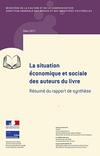 Couverture du résumé du rapport de synthèse de l'étude sur la situation économiques des auteurs du livre