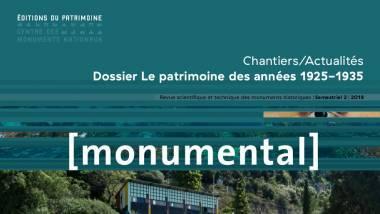 Monumental 2018 - Semestre 2, Le patrimoine des années 1925-1935, détail de la couverture