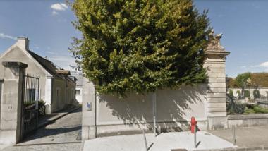 Vue de l'entrée du Laboratoire de Recherche des Monuments Historiques à Champs-sur-Marne