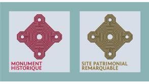 Plaques signalétiques : Monument historique & Site patrimonial remarquable