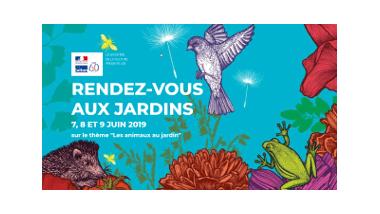 Visuel des Rendez-vous aux jardins 2019 - Les animaux au jardin