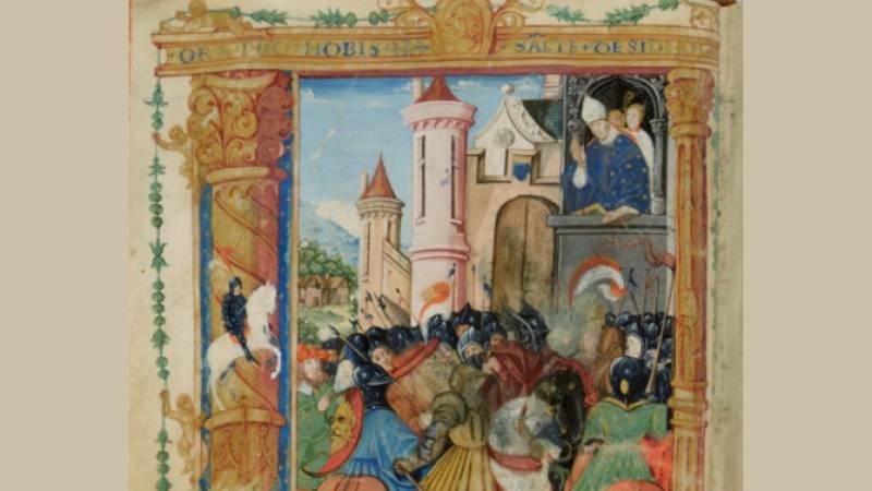 Détail d'une miniature du Registre de la confrérie Saint-Didier, 1541 à 1787 - Langres