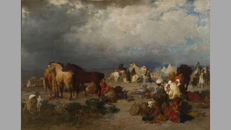 Gustave Guillaumet, Campement d'un goum à la frontière du Maroc - La Rochelle, musée des Beaux-Arts