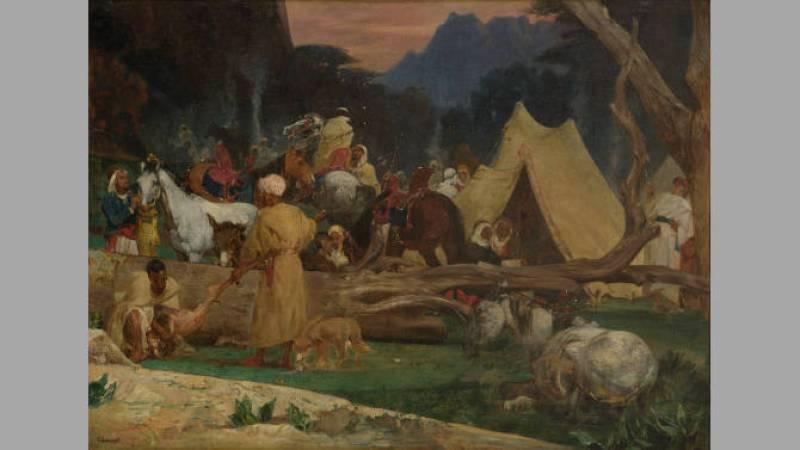 Gustave Guillaumet, Dans la forêt de cèdres - Collection particulière