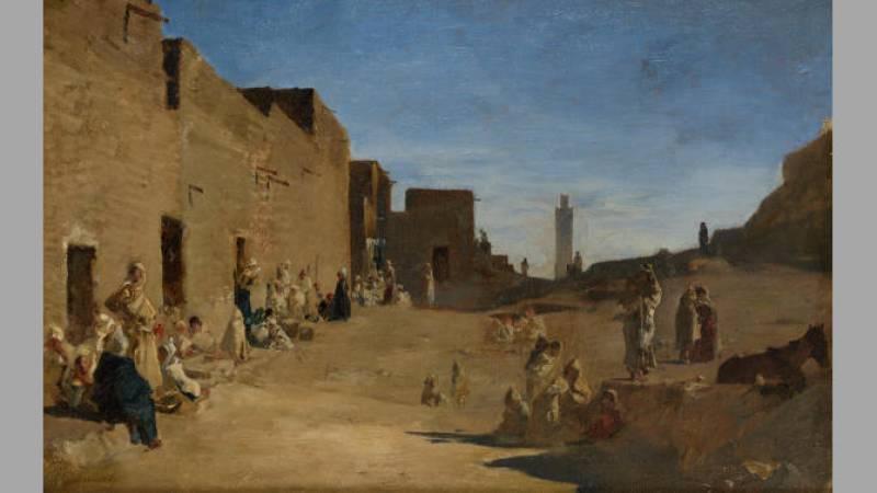 Gustave Guillaumet, Etude pour Laghouat - Collection particulière