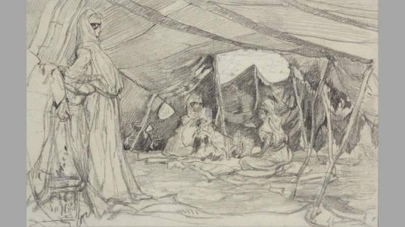 Gustave Guillaumet, Sous la tente - Collection particulière
