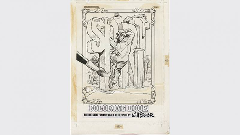 Couverture du Spirit coloring book - Poorhouse press 1974