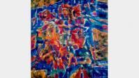 Jean Le Moal, Archipel, 1972-1973, huile sur toile, 199,4x199,1 cm, Dunkerque, LAAC