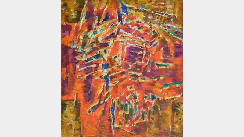 Jean Le Moal, Lumière d'août, 1973-1974, huile sur toile, 180x160 cm, collection particulière