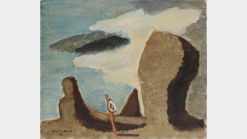 Jean Le Moal, Menhirs, 1935, huile sur toile, 46x55 cm, collection particulière
