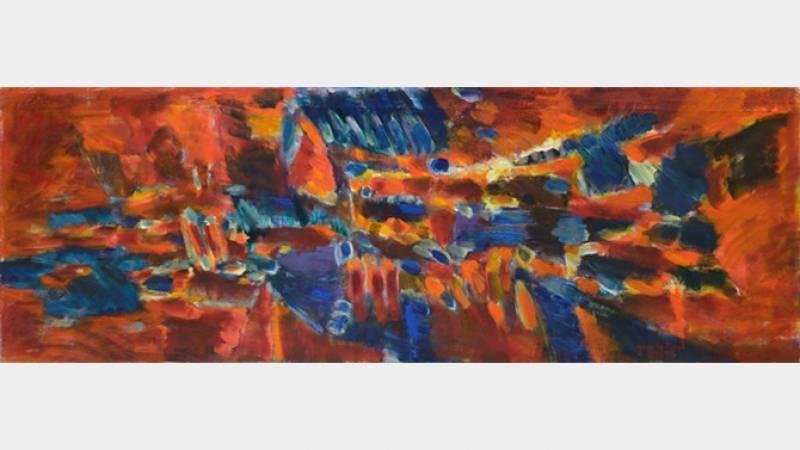 Jean Le Moal, Peinture, 1972-1973, huile sur toile, 62x180,5 cm, collection particulière