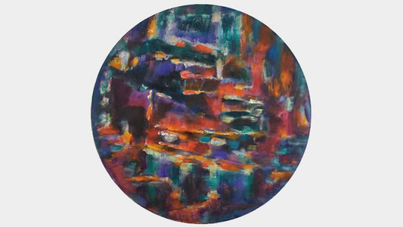 Jean Le Moal, Peinture, 1972-1984, huile sur toile, diam.76,5 cm, collection particulière