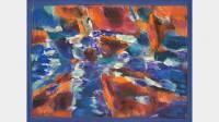 Jean Le Moal, Sans titre, 1973, huile sur toile marouflée sur panneau, 20,5x27 cm, collection particulière