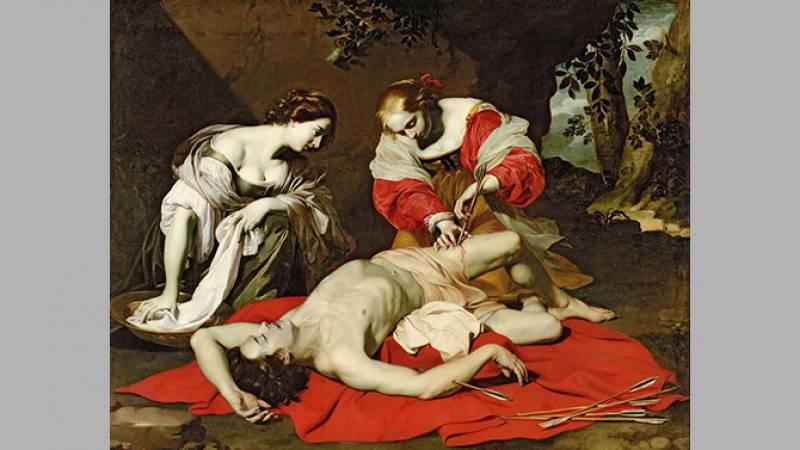 Nicolas Régnier, Saint Sébastien soigné par Irène et sa servante - Kingston upon Hull, Ferens Art Gallery