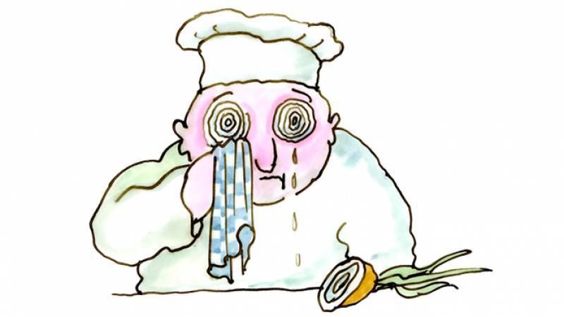 Tomi Ungerer, Tendron de veau aux oignons nouveaux, dessin pour La Cuisine Alsacienne, 1985, Collection Musée Tomi Ungerer – Centre international de l'Illustration, Strasbourg