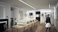 Maison natale Clemenceau - Perspective de la salle du Combat pour la République